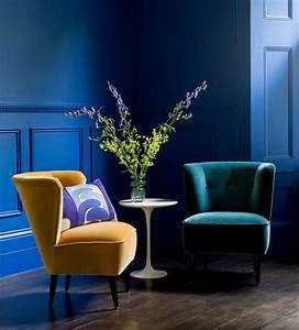 Fauteuil Bleu Marine : 1001 id es cr er une d co en bleu et jaune conviviale ~ Teatrodelosmanantiales.com Idées de Décoration