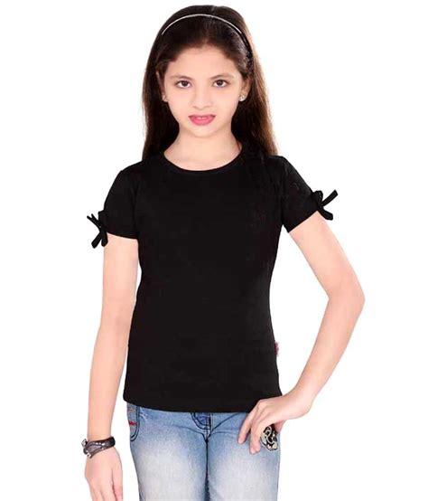 Sinimini Excellent Girls Cotton Top Black  Buy Sinimini