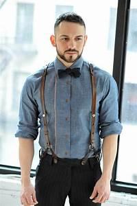 Vintage anzug hosenträger