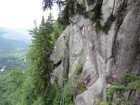 via ferrata looking back at a bridge picture of via