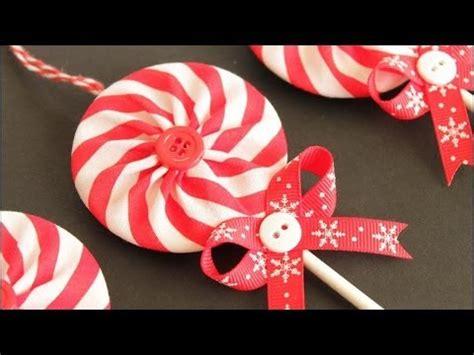 fabric yo yo lollipop christmas ornaments youtube