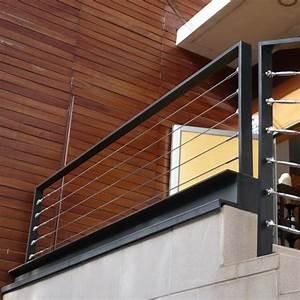 garde corps aluminium acier cables inox balustrade With modele escalier exterieur terrasse 1 escalier gradine rampe garde de corps