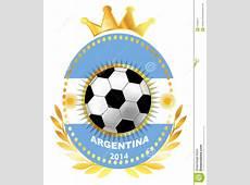 Soccer Ball On Argentina Flag Stock Vector Illustration