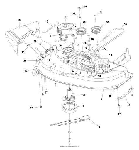 Deck Part Diagram by Husqvarna Cz 3815 968999245 2006 08 Parts Diagram For