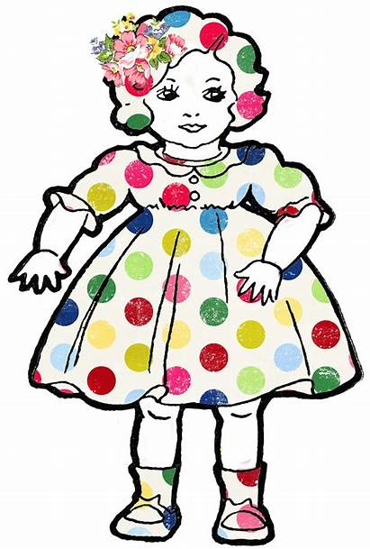Dolls Doll Clip Clipart Shabby Cliparts Altered