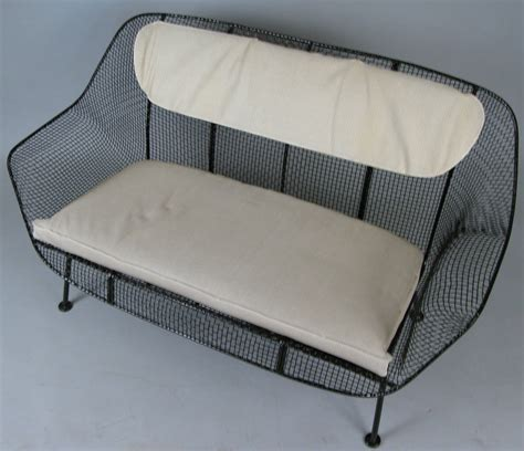 Wrought Iron Settee by Vintage Wrought Iron Settee By Woodard At 1stdibs