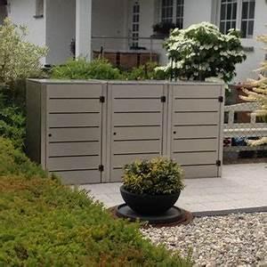 Unterstand Für Mülltonnen : m lltonnenbox stahl metall und edelstahl und gartentipps ~ Lizthompson.info Haus und Dekorationen