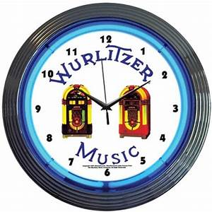 Wurlitzer Blue Jukebox Neon Wall Clock TP Tools & Equipment