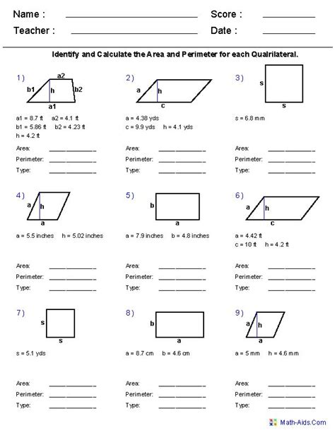 the 25 best area and perimeter worksheets ideas on
