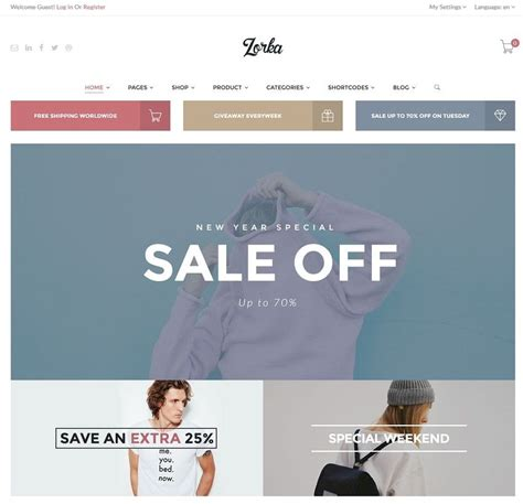 Ecommerce Themes 30 Ecommerce Themes Best Of 2017