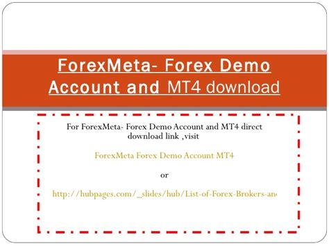 mt4 demo forex meta forex demo account mt4
