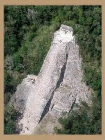 Mayan Ruins in Coba Mexico Pyramid
