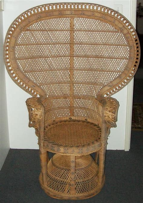 chairs stools footstools rare imported wicker throne chair  sold