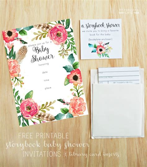 printable baby shower invitations  fabuless life