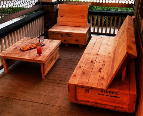 crate furniture bench how to recycle a wooden crate into furniture us2