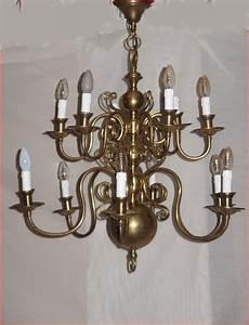 Lustre En Cuivre : lustre de style hollandais en bronze et cuivre lustres ~ Teatrodelosmanantiales.com Idées de Décoration
