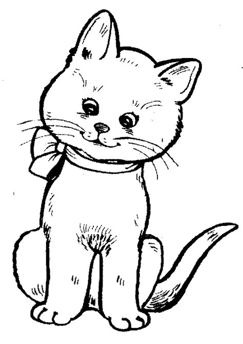Cat Clipart Black And White Clipartix