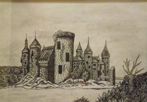 Medieval Castle Pencil Drawings