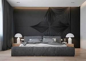 schlafzimmer ideen einige tipps wie sie dekorieren With wandgestaltung schlafzimmer grau