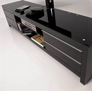 Meuble Tv Design Noir 200 Cm PRM 200H BBB Exclusive