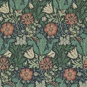 Compton Wallpaper - Indigo/Russet (210421) - William