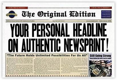 Fake Own Newspaper Headlines Create Missing Personalized