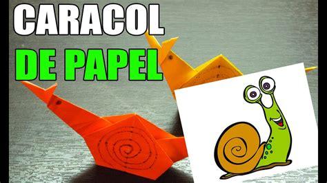 Como hacer un CARACOL DE PAPEL Origami paso a paso