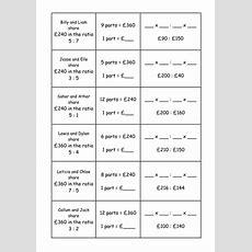 Ratio Dividing A Quantity Worksheets  Ks3  Gcse By Mrbuckton4maths  Teaching Resources Tes