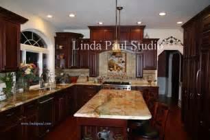 Kitchen Backsplash Ideas Cherry Cabinets by Tile Backsplash Ideas For Cherry Wood Cabinets Best Home