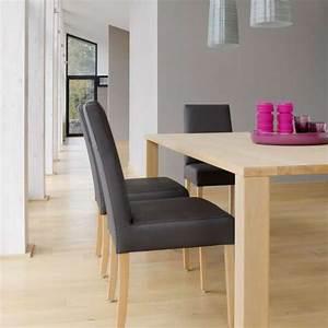 table de salle a manger moderne en bois massif nevada With salle a manger moderne en bois