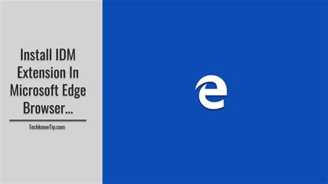 Enable internet download manager extension on microsoft edge is a very simple matter. How to Install IDM extension in Microsoft Edge Browser - YouTube