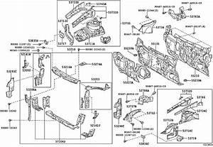 2009 Toyota Camry Hood Latch Support  Support  Hood Lock