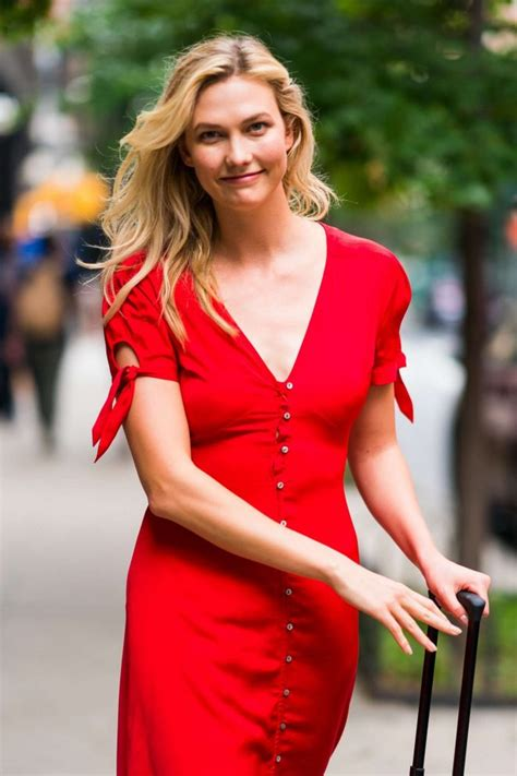 Karlie Kloss Red Dress Out About New York City