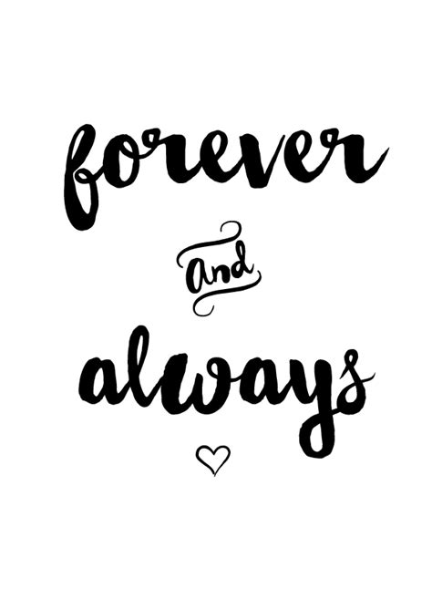 Always And Forever forever always print a4 designs by