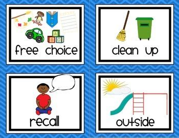 preschool schedule cards gsrp preschool prek visual daily schedule routine 882