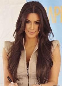 Kim Kardashian Long Hairstyles - Brown Hair - PoPular Haircuts
