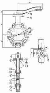 Cast Iron Butterfly Stainless Steel Disc Valve