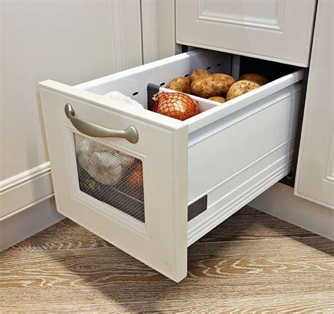 kitchen vegetable drawer potato garlic storage