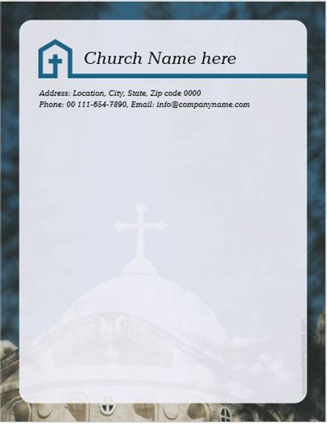 ms word church letterhead templates word excel