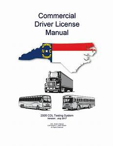 Commercial Driver Manual For Cdl Training  North Carolina