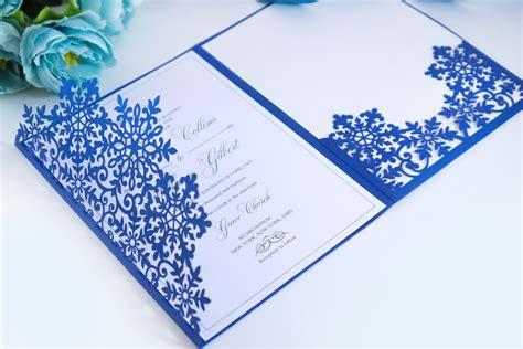 Laser Cut Wedding Invitation 5x7 Cricut Template Tri Fold