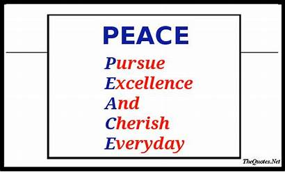 Peace Motivational Motivation Words Pure Acronyms Thequotes