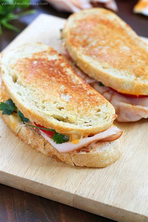 Southwestern Crispy Grilled Turkey and Cheese Sandwiches ...
