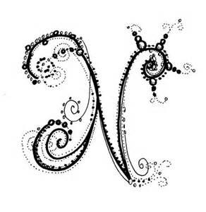 Fancy Letter N