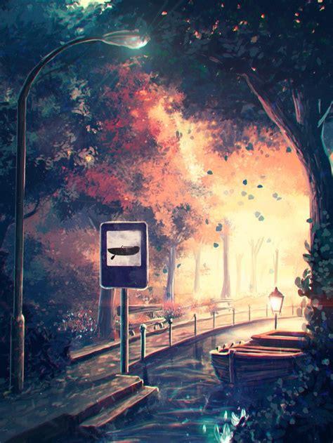 Anime Digital Wallpaper - 60 best anime landscapes images on anime