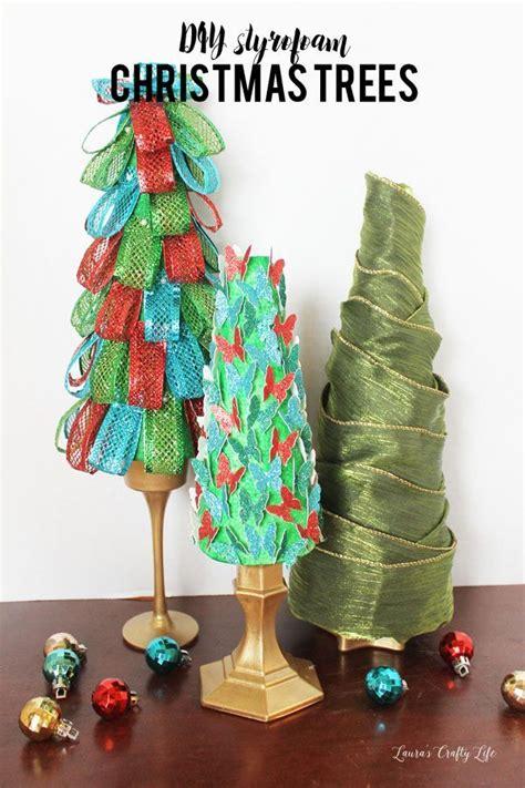 styrofoam christmas trees crafts pinterest christmas