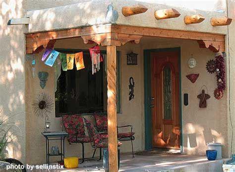southwest porch designs hacienda style stucco exterior southwest style