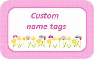 back to school custom girl printable name tags keeping With free customized name tags printable