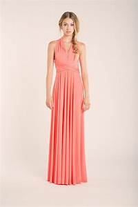 Coral bridesmaid dress peach bridesmaid dress coral for Coral maxi dress for wedding