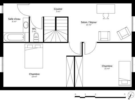 plan maison etage 2 chambres plan maison de ville avec 2 chambres ooreka